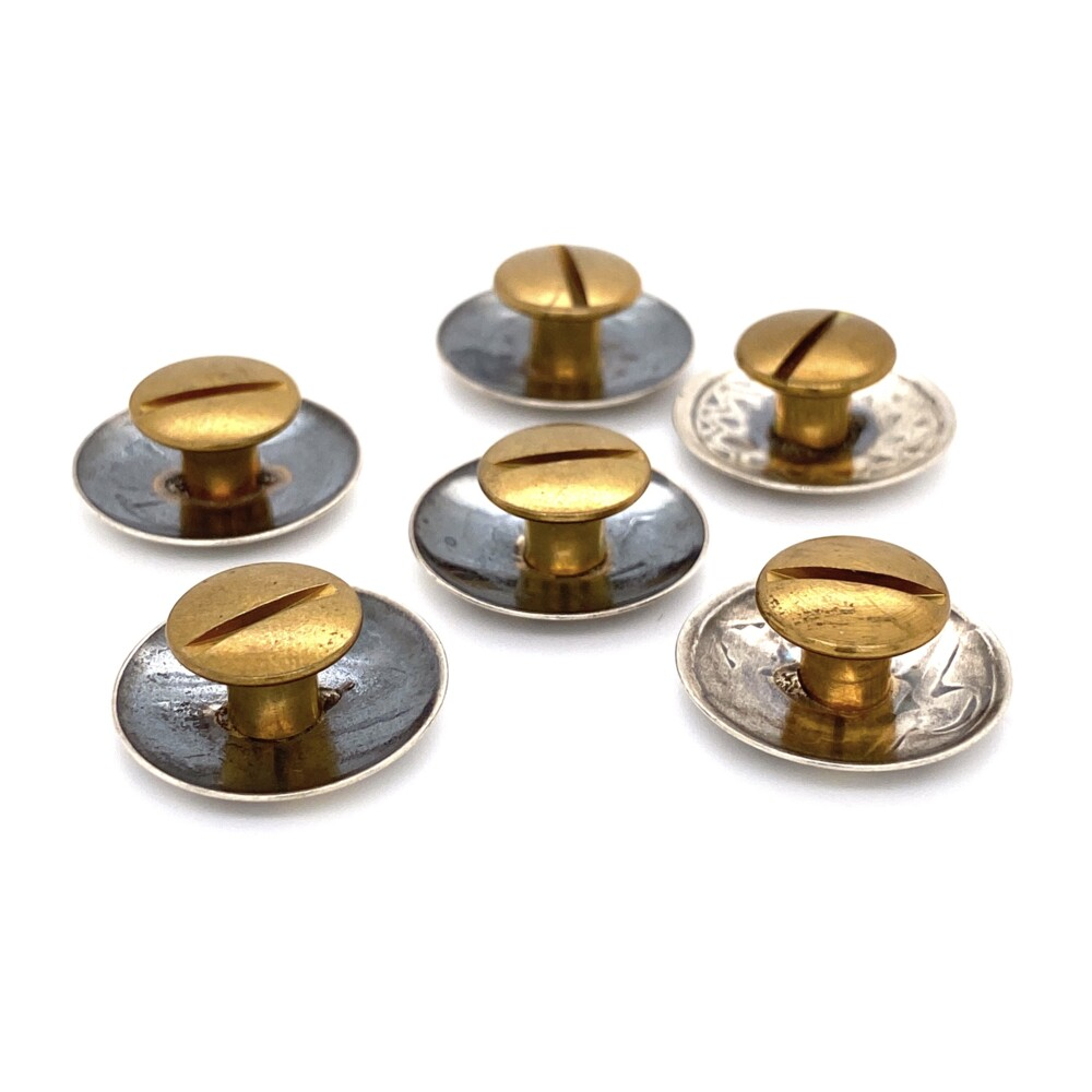 925 Sterling Native 6 Button Set, 18.3g