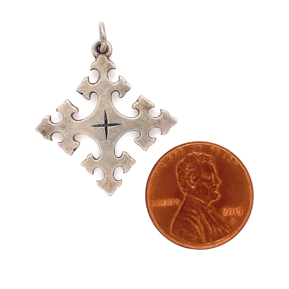 925 Sterling James Avery Square Cross Charm 2.7g