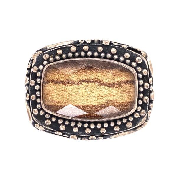 Closeup photo of 925 Sterling Lori Bonn Doublet Ring 14.8g, s7.75