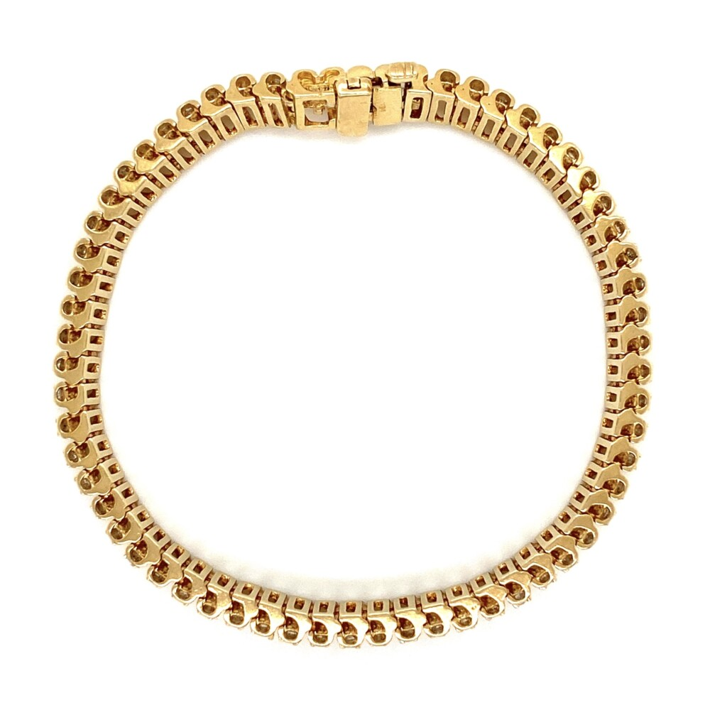 "Image 2 for 14K YG 1.55tcw Diamond Tennis Line Bracelet 24.8g, 7"""