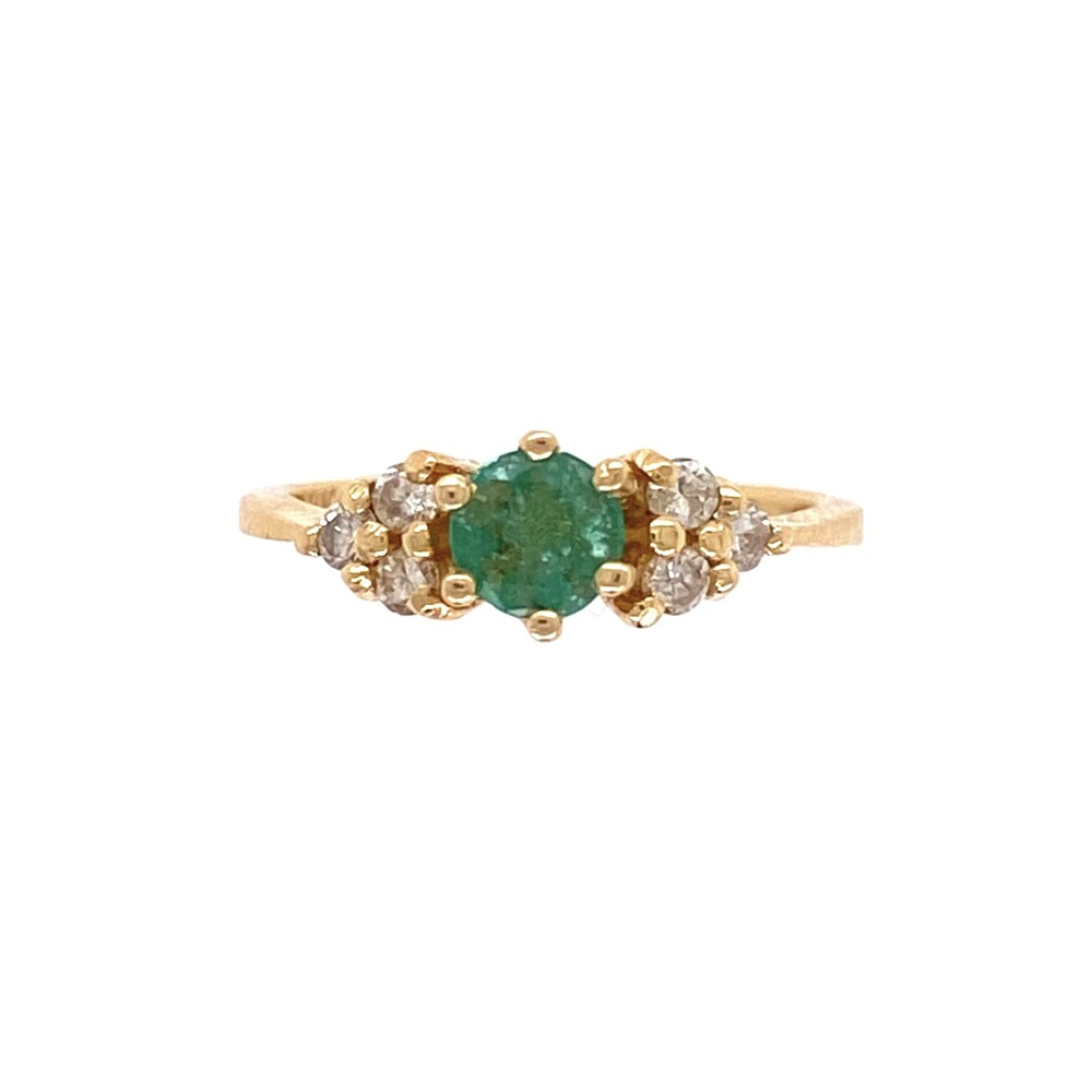 Image 2 for 14K YG .25ct Emerald & .09tcw Diamond Ring 1.6g, s3