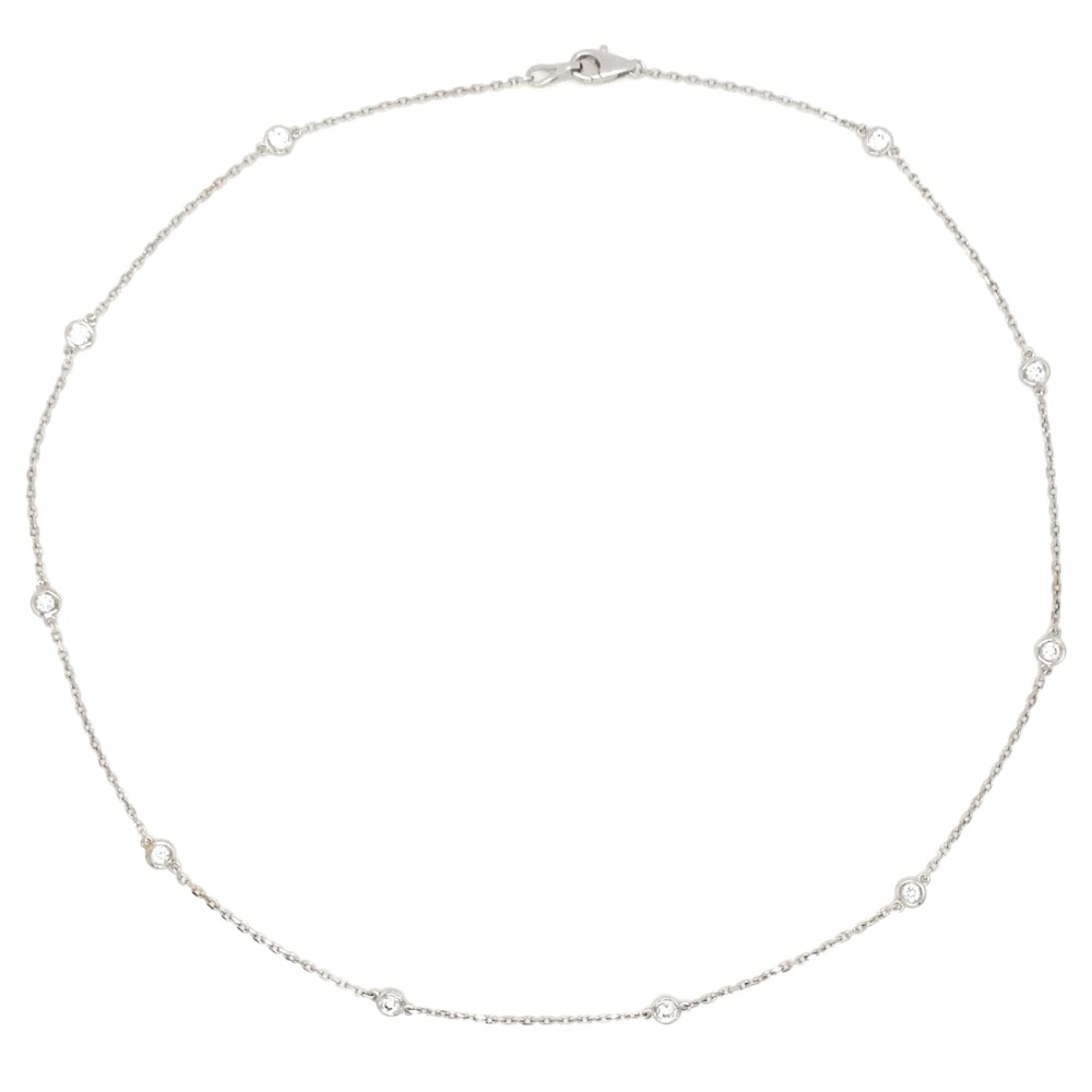 14K WG 2.3mm Diamonds by the Yard Necklace .51tcw, 16""