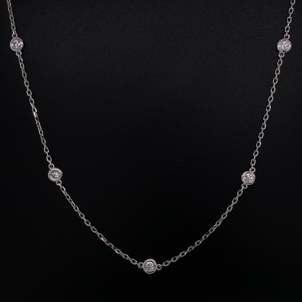 """Image 2 for 14K WG 2.3mm Diamonds by the Yard Necklace .51tcw, 16"""""""