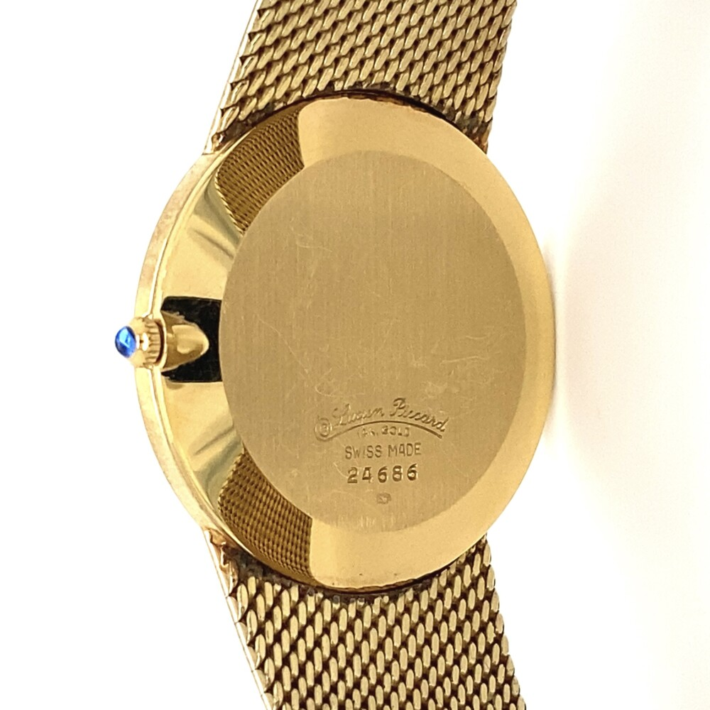 Image 2 for Lucien Piccard Yellow Gold Quartz Round Watch 14K 53g
