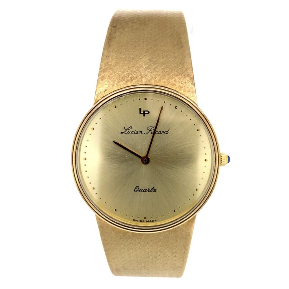 Lucien Piccard Yellow Gold Quartz Round Watch 14K 53g