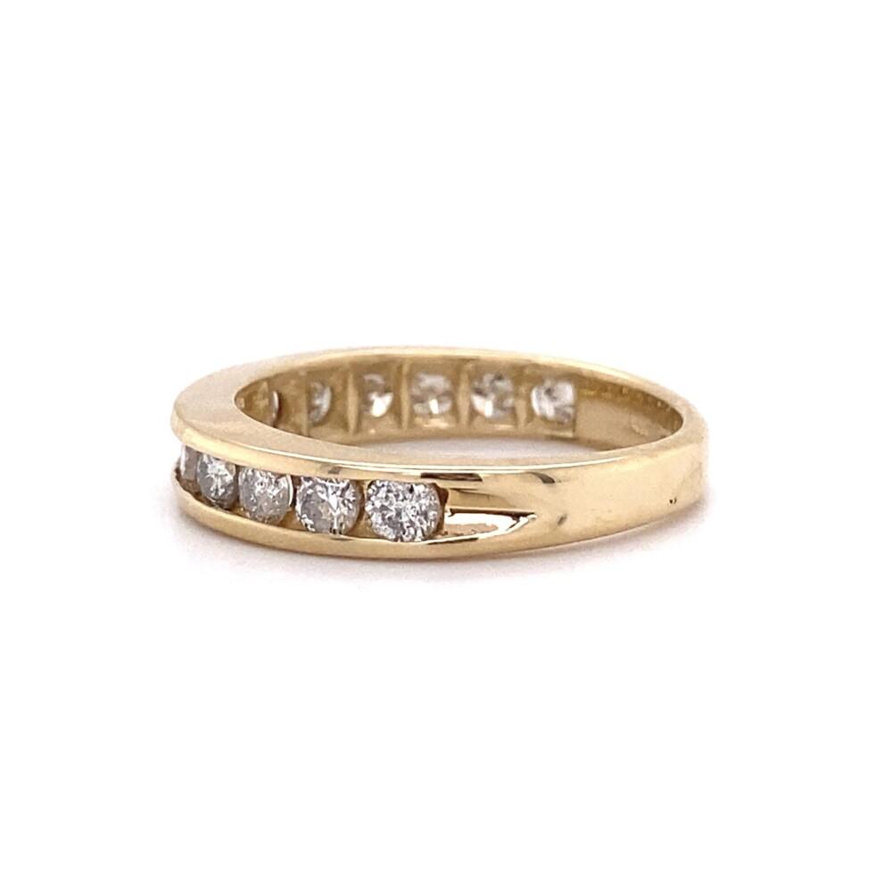 14K YG 3/4 Diamond Band Ring 1.00tcw 3.1g, s6.25