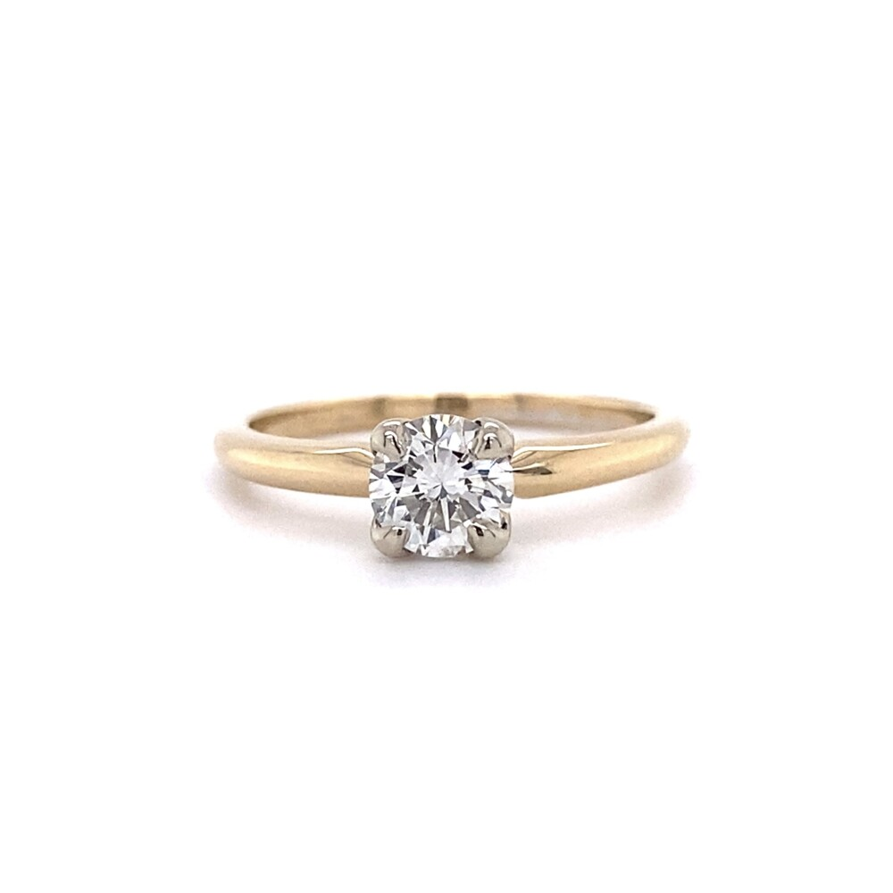 .63ct Round Brilliant Diamond Solitaire Ring in 14K YG, s6.25