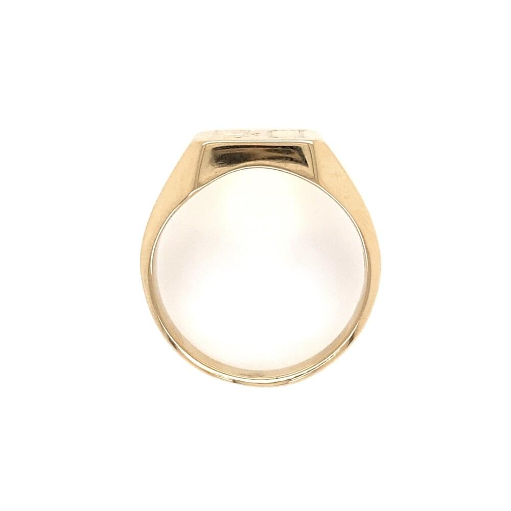 10K Yellow Gold Mens Signet Ring DA 8.6g, s9.25
