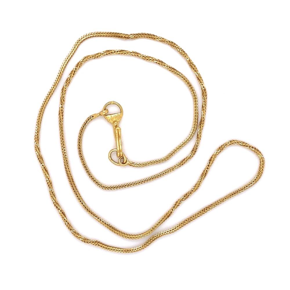 "22K YG Twisted Chain Hook & Loop Closure 4.8g, 17"""