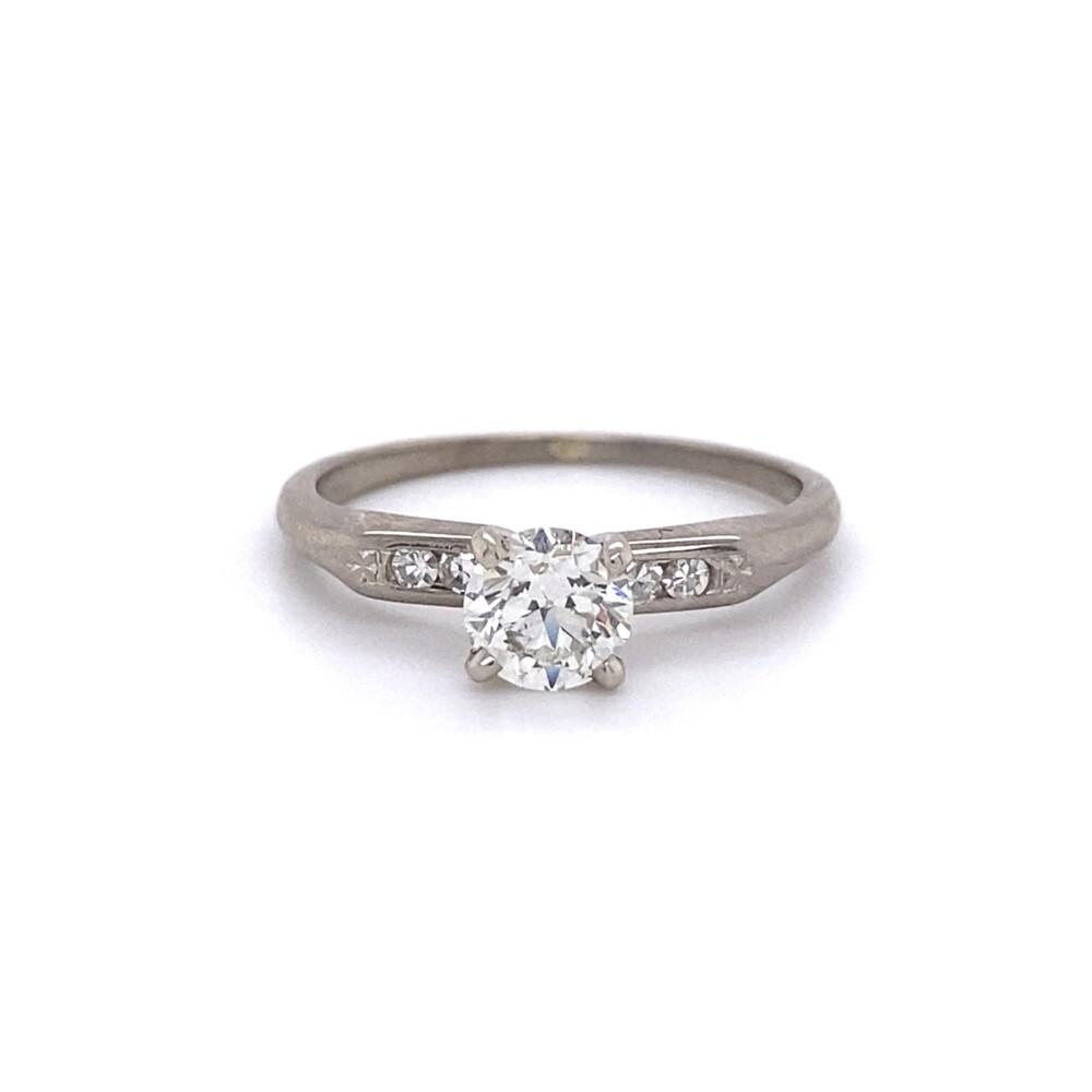 Platinum 1950's Classic .62tcw Diamond Ring 2.5g, s6.75