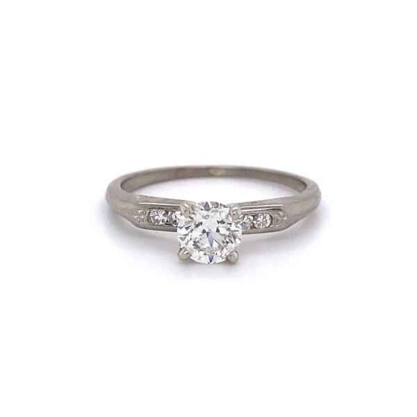 Closeup photo of Platinum 1950's Classic .62tcw Diamond Ring 2.5g, s6.75