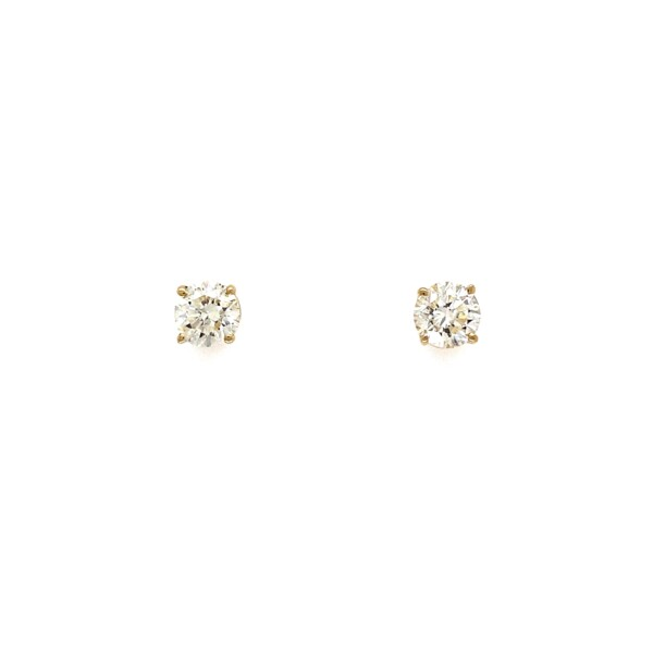 Closeup photo of 1.24tcw Round Brilliant Diamond Studs I/J-SI2