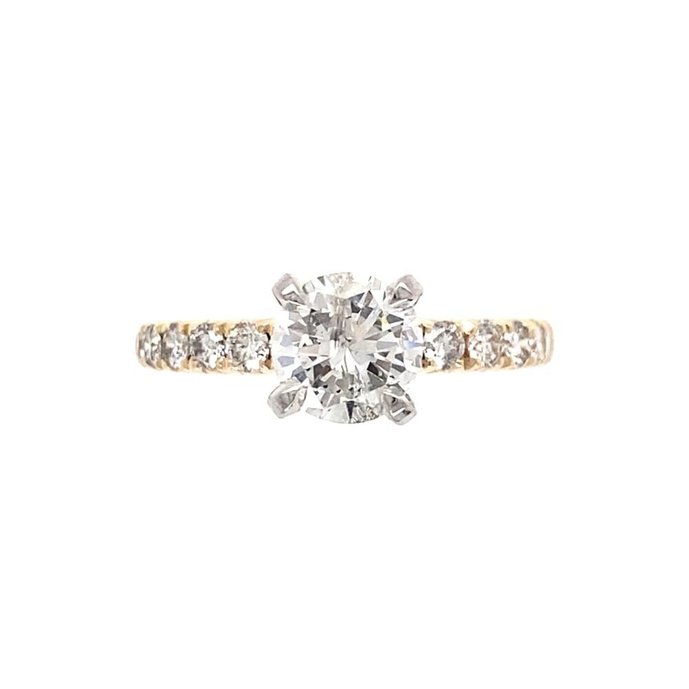 .83ct Round Brilliant Diamond Solitaire &.48tcw Diamond Shank Ring 3.0g, s5