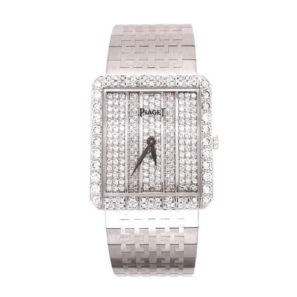 Closeup photo of Piaget 81635 A2 2.00tcw Diamond Dress Watch 18K WG 82.4g