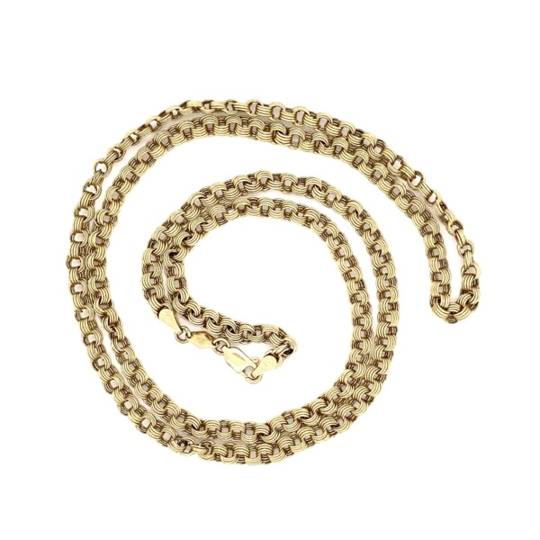 """Closeup photo of Vintage Link Chain in 14K YG 6.6g, 26"""""""