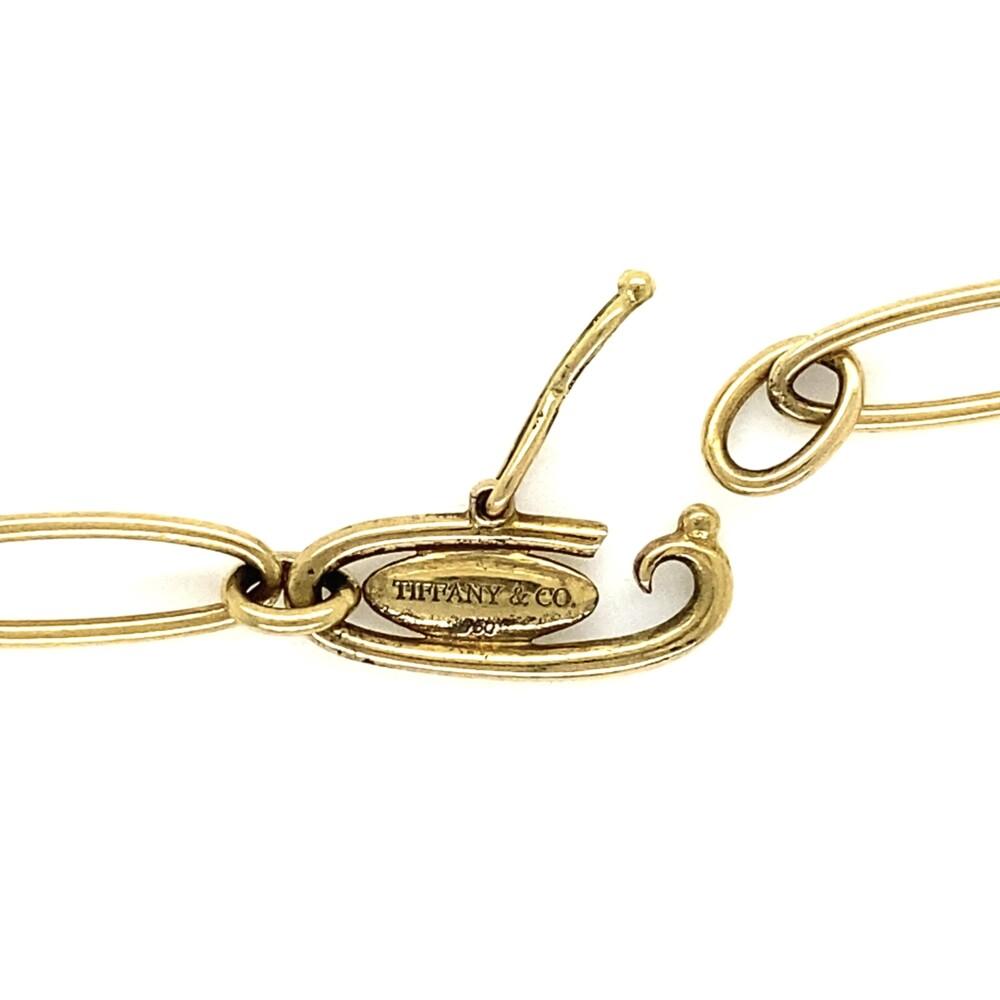 "TIFFANY & CO 18K YG Elsa Peretti Heart Charm Bracelet 10.8g, 7"""