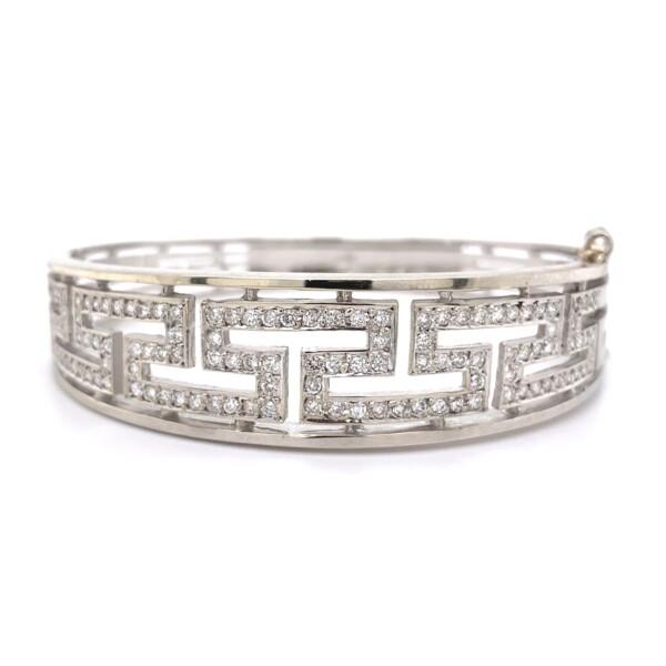 Closeup photo of Designer 2.40tcw Diamond Bangle Bracelet 30g