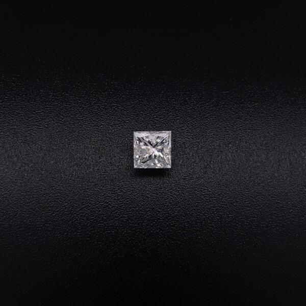 Closeup photo of .63ct Modern Square Princess Cut Diamond F-G / I1