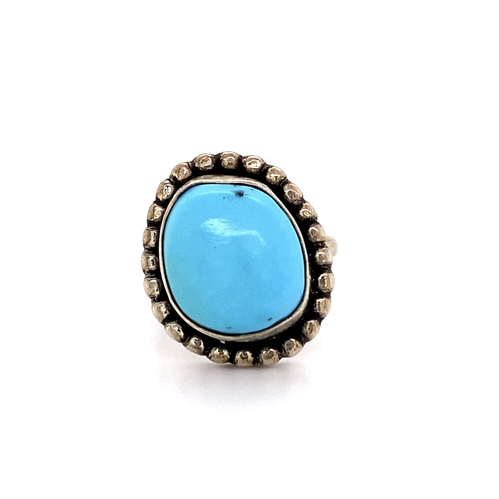 925 Sterling Native Turquoise Ring 4.6g, s3