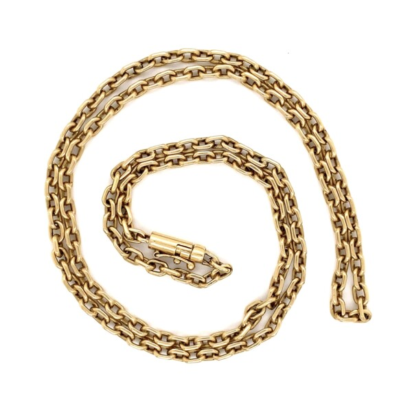 """Closeup photo of 14K YG Oval 3.8mm Link Chain 27.4g, 25"""""""