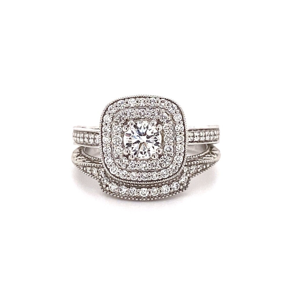 14K WG 1.10tcw Diamond Wedding Set 6.6g, s6