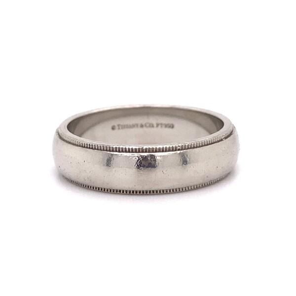 Closeup photo of Platinum TIFFANY & CO 6mm Band 15.2g, s10.5