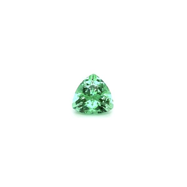 Closeup photo of 2.86ct PARAIBA Vibrant Yellowish-Green Tourmaline Trillion 9.15x9.08x6.25mm IGI GT10962908