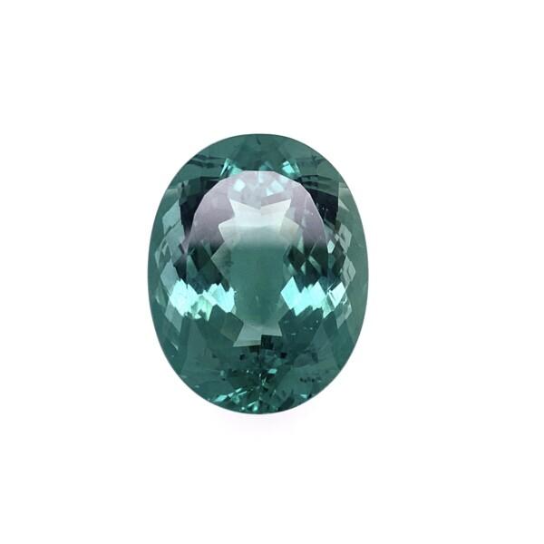 Closeup photo of 36.51ct Oval Green Apatite Gemstone 22.99x18.06x11.90mm