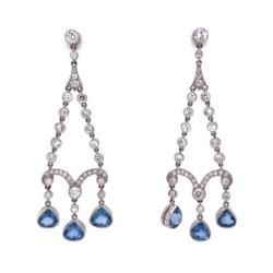 Closeup image for View Platinum Art Deco Filigree Ring 1.15Ct Oec Diamond With .78Tcw Side Diamonds By Estate