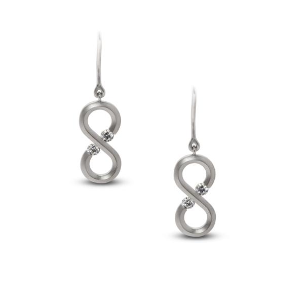 Closeup photo of Infinity Mini Drop Earrings