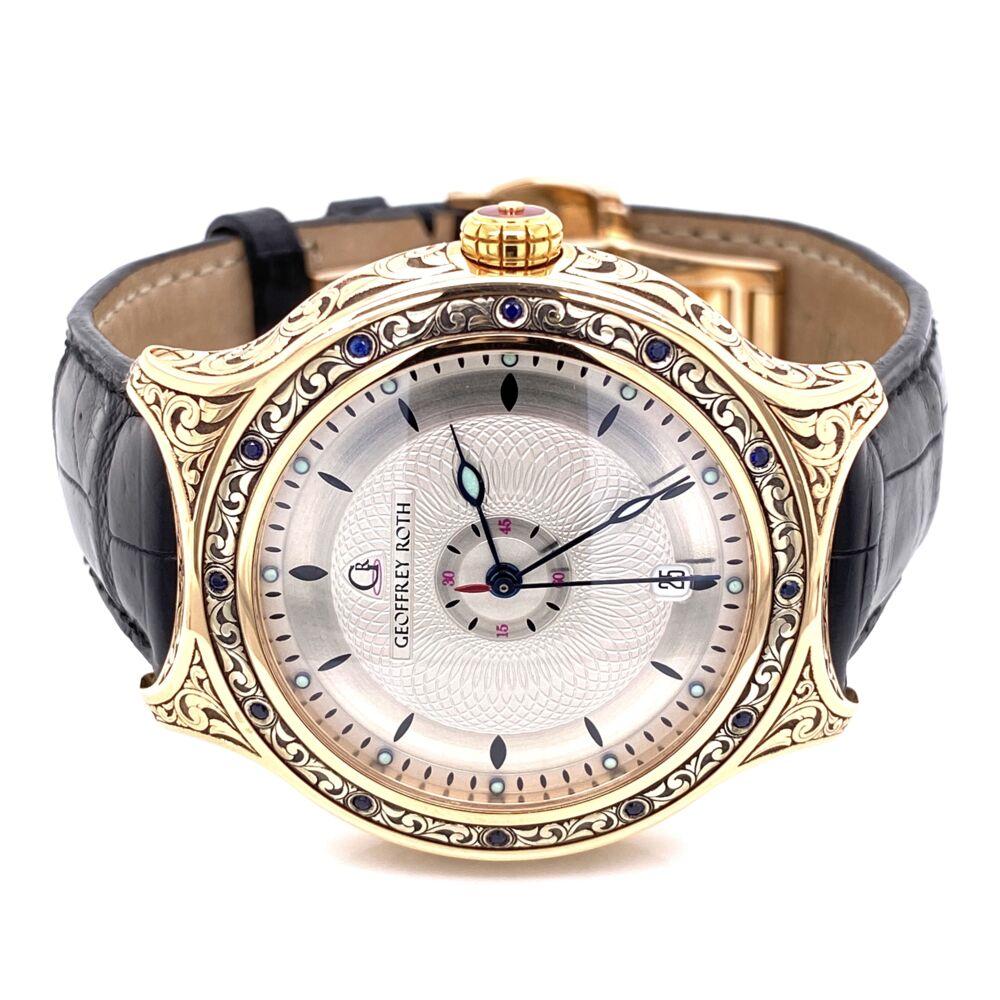 Geoffrey Roth HH2 Hand engraved gold Watch