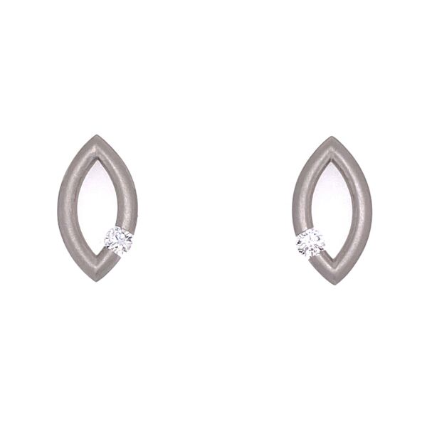 Closeup photo of Large Mango Jazz Earrings in Platinum with Diamonds