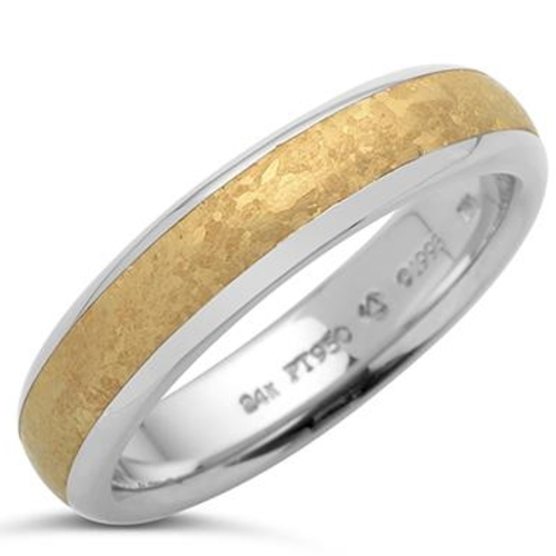 24k Channel Band, 6mm, size 10.25