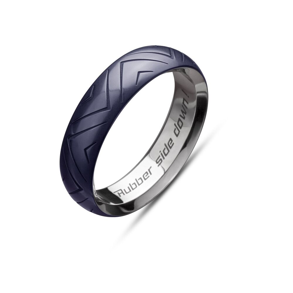 Midnight Blue Tire Band 6mm Size 10.25