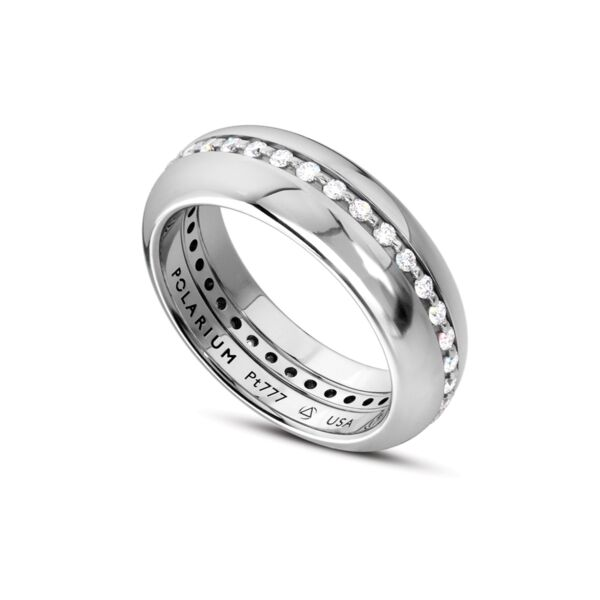 Closeup photo of Outer Half Round Band Inner Secrets Shiny Finish 5.0 mm Size 10