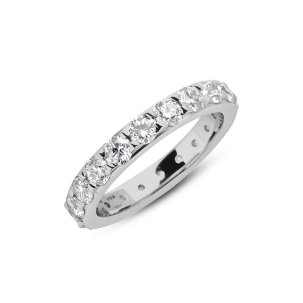 Closeup photo of Hala Band 3.3mm in Platinum, 5.9g, Size 6.75