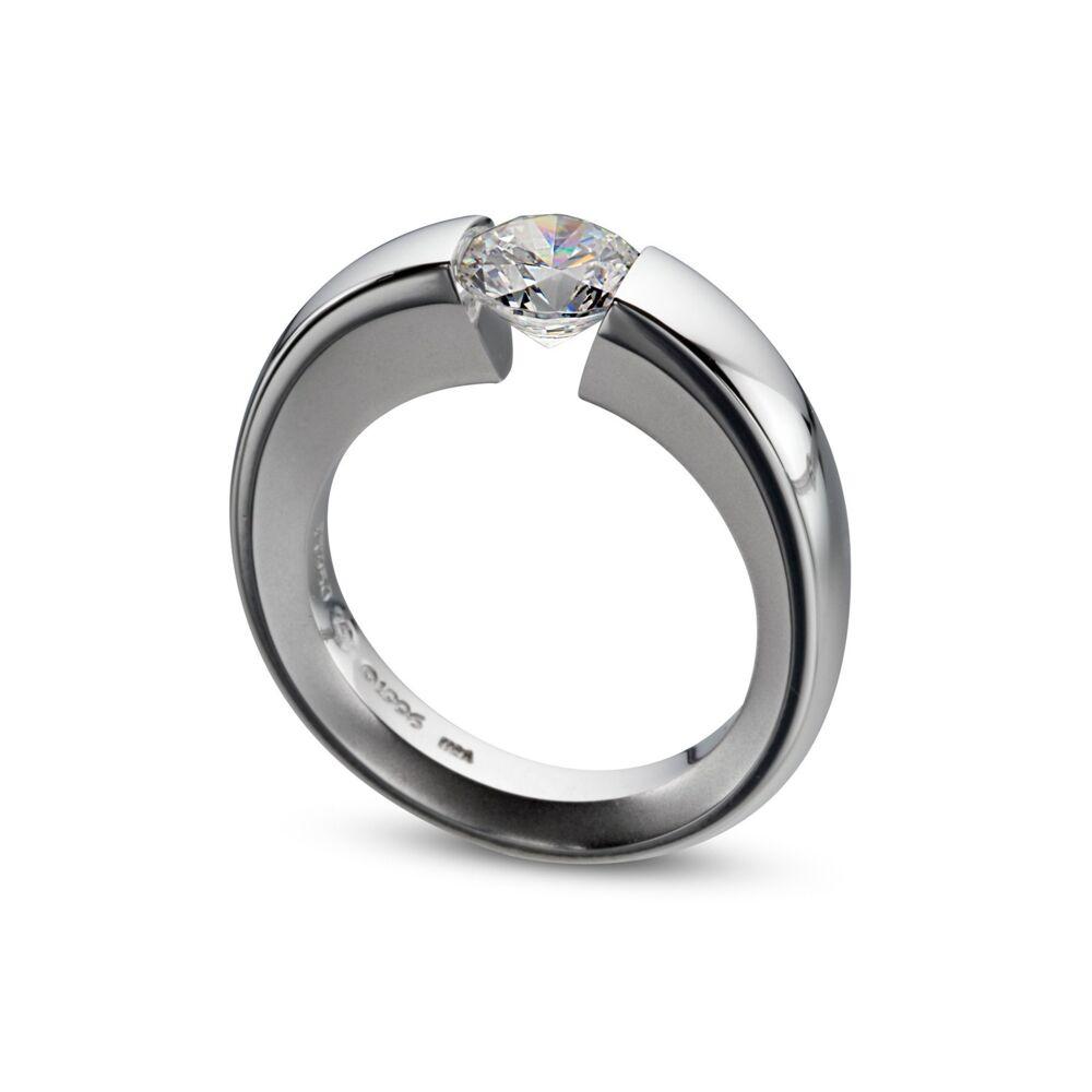 WUSH Ring in Platinum Size 6.25