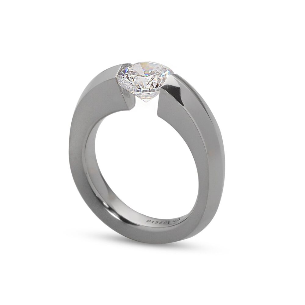 Blade Ring in Half Matte Platinum Size 6.5