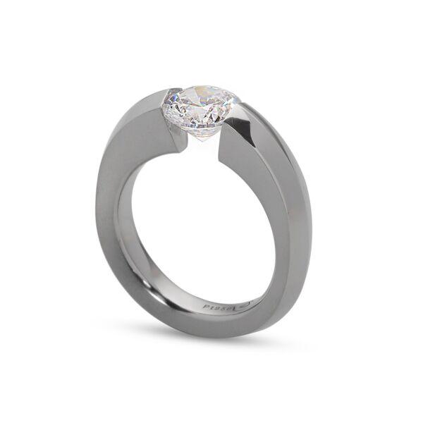 Closeup photo of Blade Ring in Half Matte Platinum Size 6.5