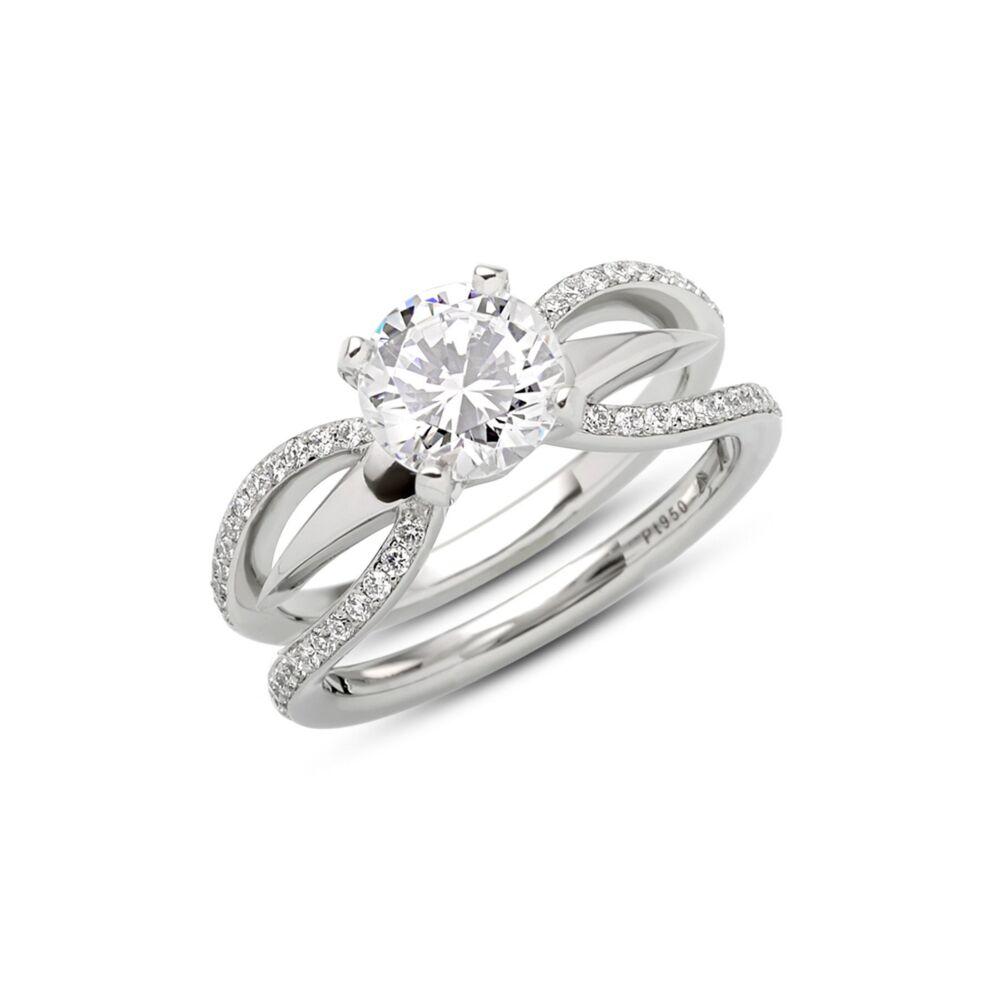 Kira Ring in Platinum Size 6.5