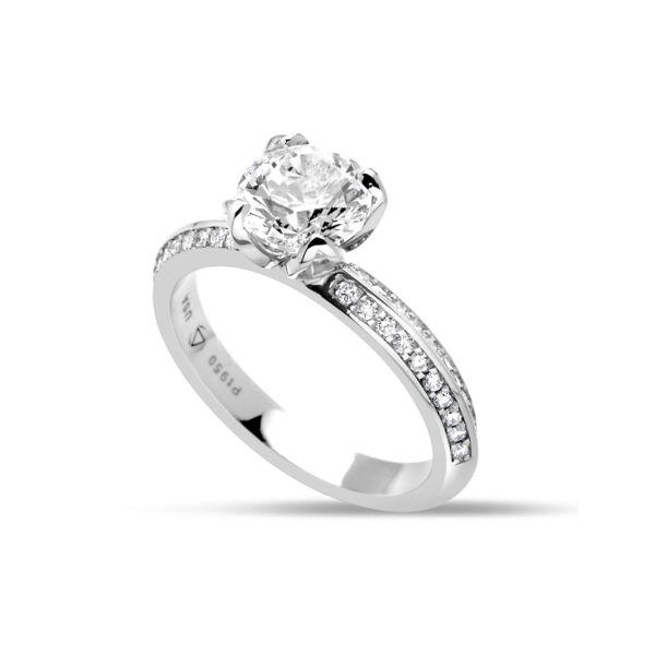 Closeup photo of Iris Ring in Platinum Size 6.25