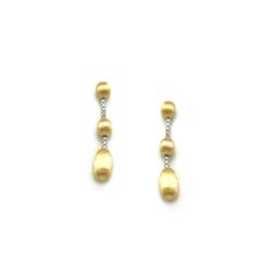 Closeup photo of Dancing In The Rain Elite 3-bead Drop Earrings