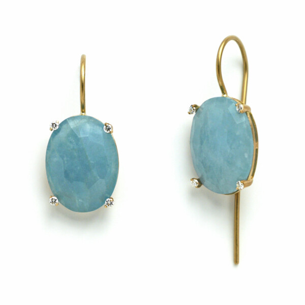 Closeup photo of Ipanema Aquamarine Drop Earrings