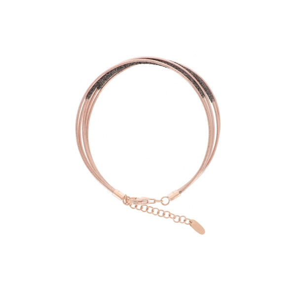 Closeup photo of Dna Spring/polvere Di Sogni Four-strand Bracelet (Rose Gold And Dark Brown Dust)
