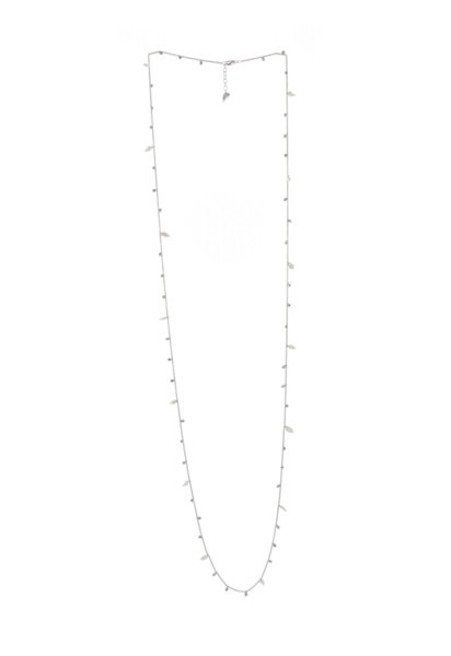 Closeup photo of Dna Chain Necklace (Rhodium)