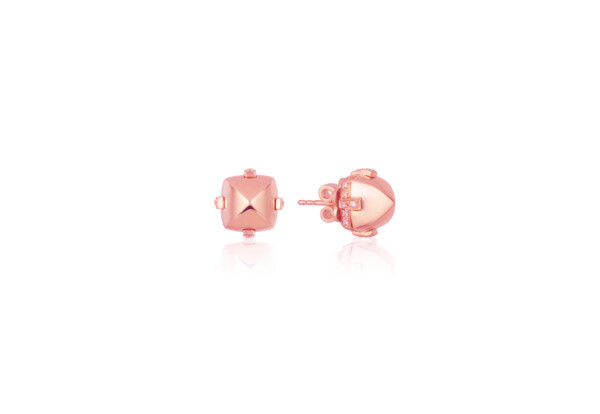 Closeup photo of Sugarloaf Pave Rose Gold Earrings