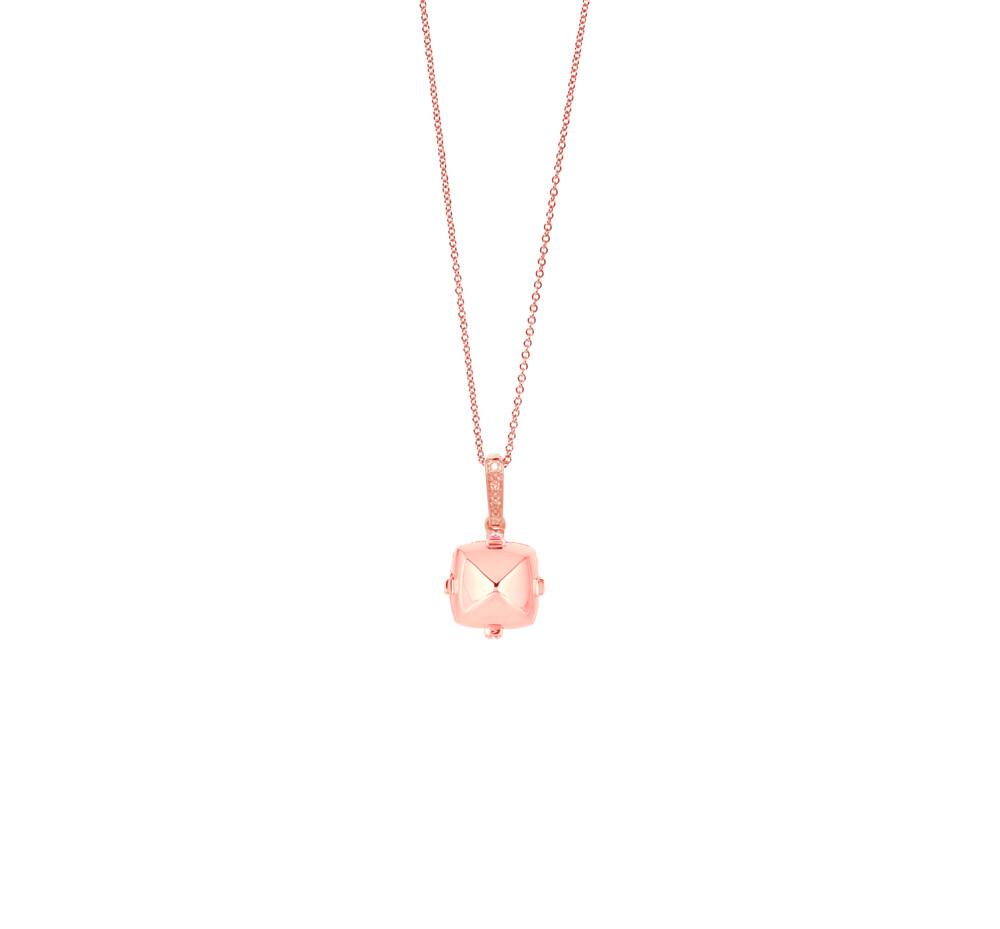 Sugarloaf Pave Rose Gold Pendant
