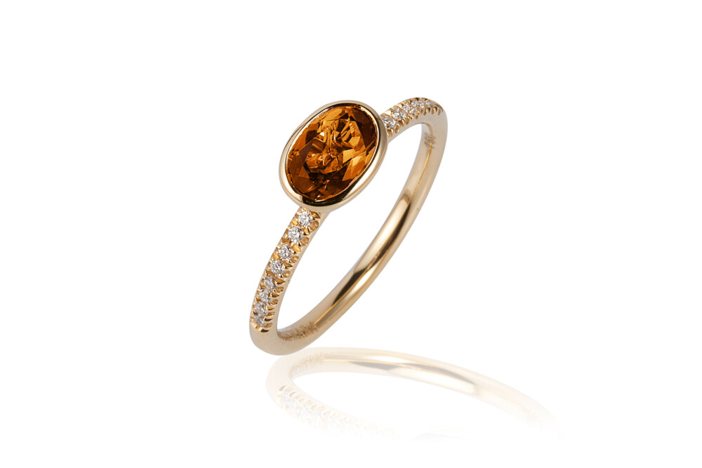 Gossip Citrine Ring