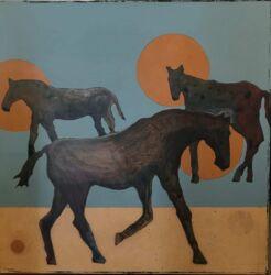Closeup photo of Horse Play III
