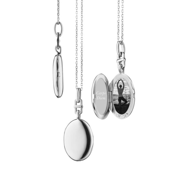 """Closeup photo of """"Eve"""" Locket (Sterling Silver)"""
